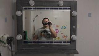 Как сделать гримёрное зеркало, своими руками, не дорого.