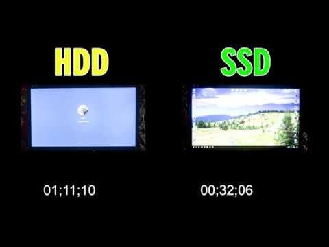 Сравнение скорости загрузки Windows с HDD и SSD WD Green 120Gb