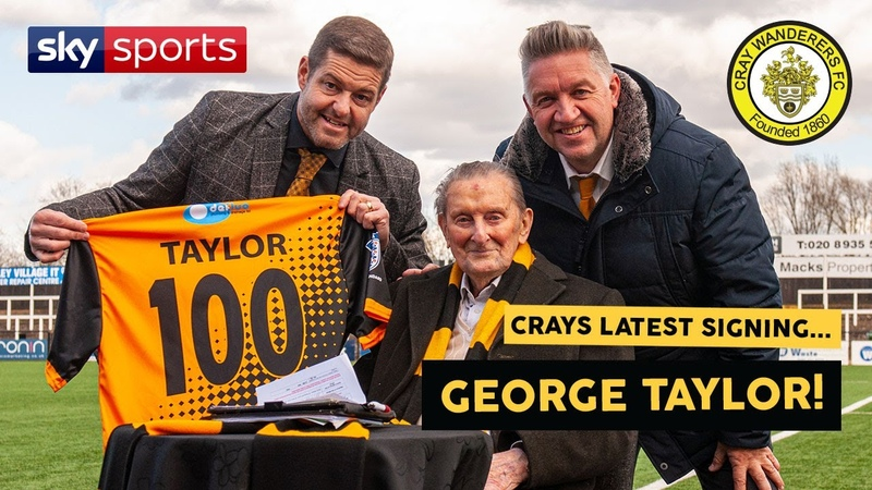 Cray sign 100 year old George Taylor AGAIN Sky Sports