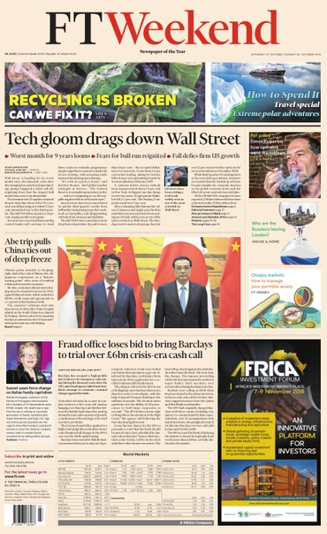 Financial Times Weekend Uk - 27 - 28 October 2018