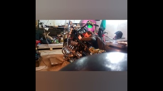 Ремонт карбюратором Honda Valkyrie 1500-установка на мотоцикл