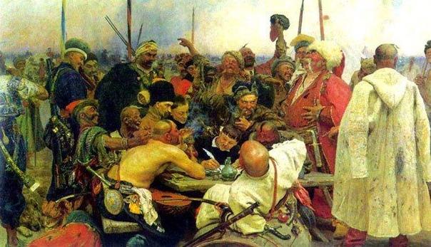 Письмо запорожцев турецкому султану Существует предание, что, прежде чем отправить войска на запорожскую Сечь, турецкий султан Мухаммад IV послал запорожцам требование покориться ему как владыке