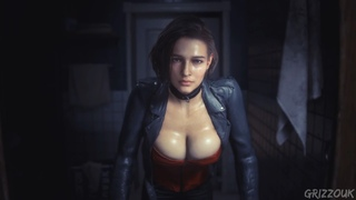 Resident Evil 3 Remake Jill Valentine in Moto Red Corset PC Mod
