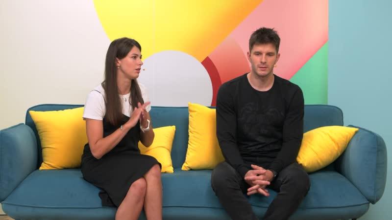 Евгений Бибартас и Евгения Банкадут в утреннем шоу Подъем на телеканале ТНТ International (часть 2)