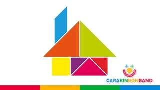 Puzzles - figuras Tangram fáciles para niños - cómo hacer una casa - By CARA BIN BON BAND