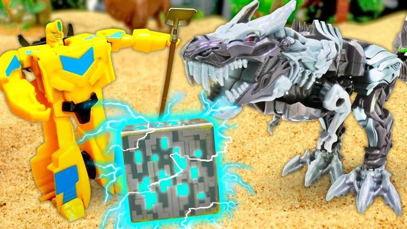 Игры Трансформеры Что нашёл БАМБЛБИ Автоботы против Диноботов и Десептиконов Видео игры битвы