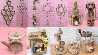10 Jute craft idea with bottle | Home decorating ideas handmade