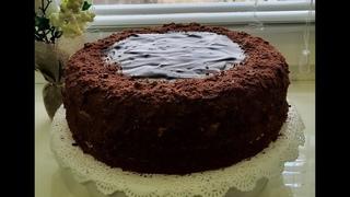 Торт СПАРТАК. Шоколадный медовик с заварным кремом. Самый нежный торт, который тает во рту.