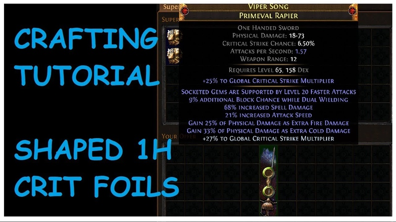 Guaranteed Crafting: One Handed Crit Multi Sword Statsticks Tutorial | Demi 'Splains