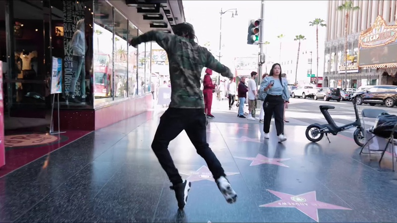 Marquese Scott and Merrick Hanna Dance on the walkoffame