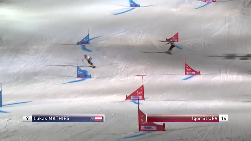 Mathies vs Sluev Mens Small Final PGS Cortina FIS Snowboard смотреть онлайн без регистрации