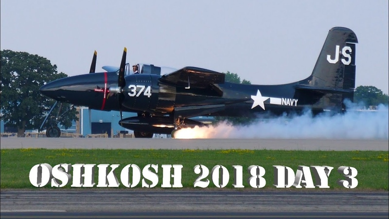 EAA Airventure Oshkosh Day 3 T6 Texans F7F Tigercat Tire Blowout and more