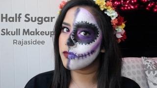 Halloween Tutorial | Easy Half Sugar Skull Makeup