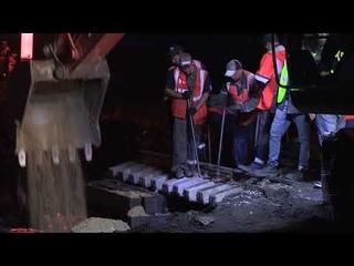 Эксклюзивные кадры: первое металлическое пролётное строение ж/д моста через реку Ареда в Забайкалье