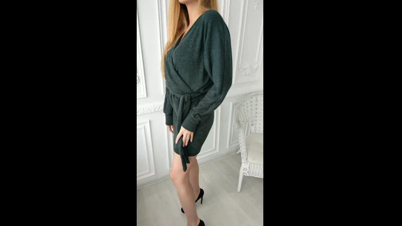 Уютное теплое и воздушное словно зефирка платье