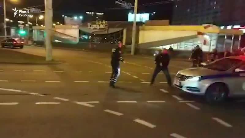 Нападение на гаишника с другого ракурса