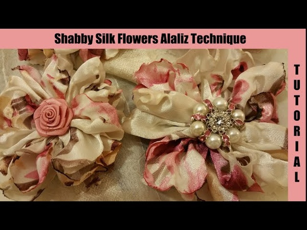 Silk Flower no sew shabby chic tutorial melting synthetic silk singed artificial flower