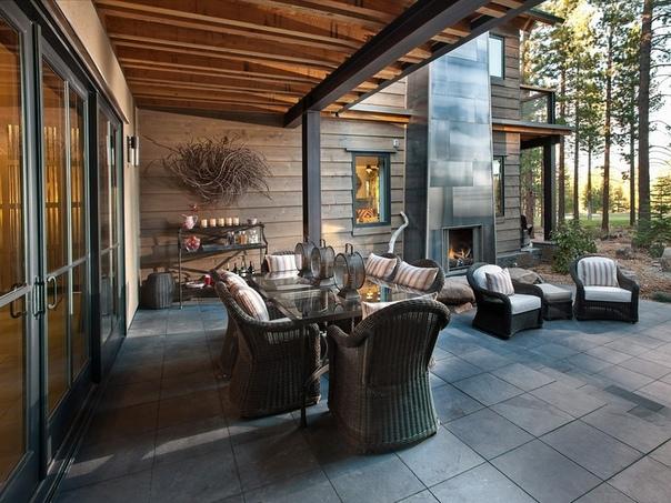 Шикарный дом в лесу Азбука_цветовода_идеи