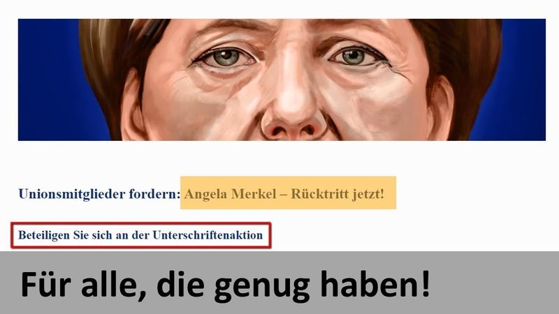 MAX OTTE Unterschriften für Rücktritt Merkel jetzt