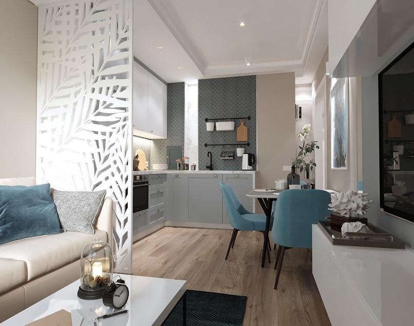 7 проектов от профи, как оформить дизайн кухни-гостиной площадью 12 м2, изображение №4