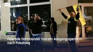 """""""Hauptsache die Dosen gewinnen nicht den Pokal"""" – Dortmunder trotzen Ausgangssperre nach Finalsieg"""