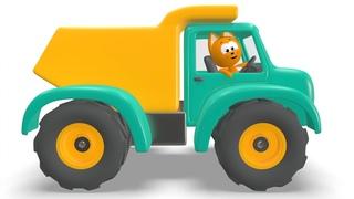 МАШИНКИ БИ-БИ - Котёнок Котэ - Развивающая веселая детская песенка мультик малышей про разные машины