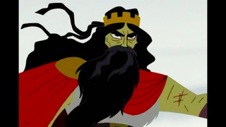 "Samurai Jack vs. the Guardian ""You can't use it YET..."" scene"