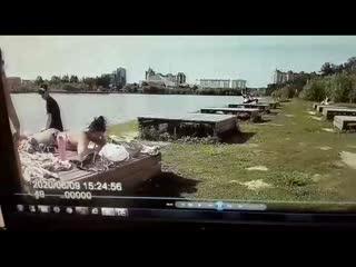 Силовое задержание отдыхающих в Сургуте. Запись с регистратора полиции