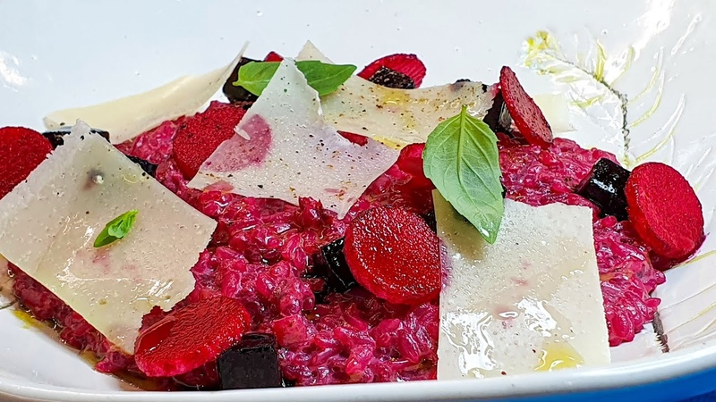 Ресторанное блюдо из свёклы Вам же все равно нечем заняться Итальянское ризотто