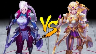 Prestige Battle Queen Diana vs Battle Queen Diana Skin Comparison Spotlight (League of Legends)