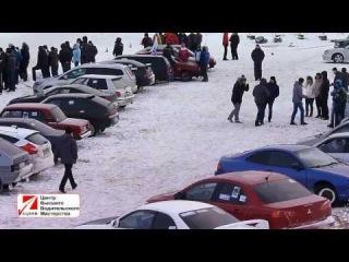 Ледовый ринг 2014. Зимняя спортивная трасса автошколы БЦВВМ. Автоспорт Барнаула 11 января