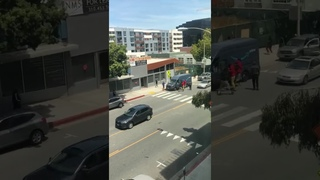 Amazon Prime Delivery Van Looted in Broad Daylight, Santa Monica, USA - 6 June 2020