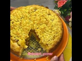 Пирог с джемом (ингредиенты указаны в описании видео)