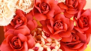 Красная роза из фоамирана своими руками БЫСТРО И ПРОСТО / Foamiran red rose DIY /
