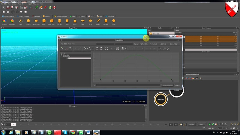 Realflow Урок 6 графики анимации
