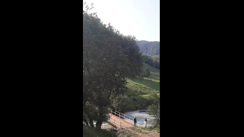 река Аксаут Дорога на базу