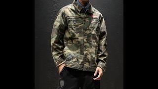 Мужская камуфляжная куртка, модная тактическая куртка с отложным воротником в стиле милитари, 2021