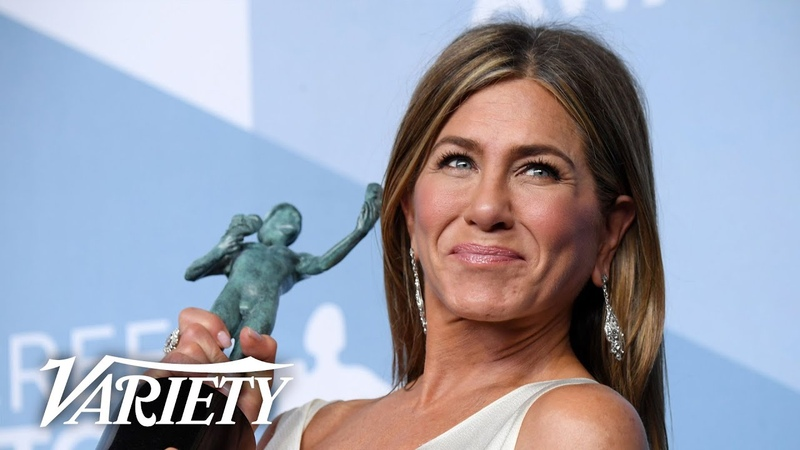 Jennifer Aniston Wins SAG Award for 'The Morning Show' Full Backstage Interview