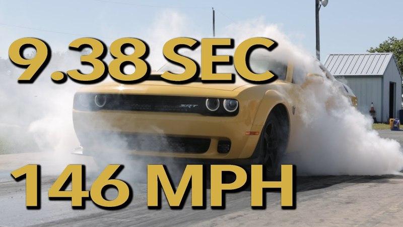 Hennessey Dodge Challenger SRT Demon HPE1000 (1.93 сек до 97 км/ч и 9.38 сек на квотере со скоростью на выходе 235 км/ч)
