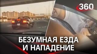 Видео: владелец Ford Mustang в Питере подрезает и нападает на водителя Mazda
