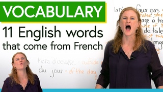 Learn English vocabulary from French: foie gras, du jour, faux pas...