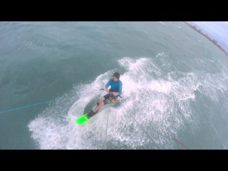 Kite Slalom Skiing