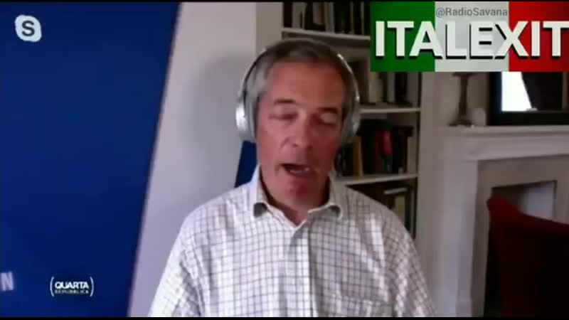 Nigel Farage ammette UE non vi aiuterà A breve in Italia ci sarà una sommossa popolare 360 X 356 mp4