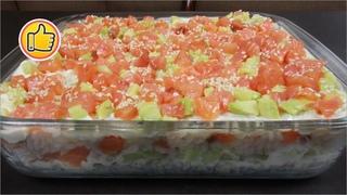 """Салат """"Суши"""" на Новогодний Стол 2021 или ЛЕНИВЫЕ СУШИ   Salad Sushi"""