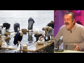 2021 год: в Великом Устюге поласкают бельё в реке