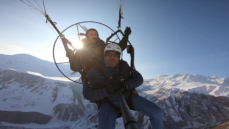 07122019 SkyAtlantida Team gudauri Paramotor paragliding полет гудаури بالمظلات، جورجيا بالمظلات