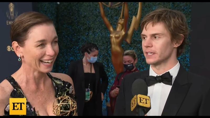 Evan Peters and Julianne Nicholson Emmy Interview