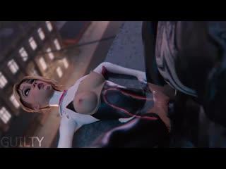 3D porn - Spider-Gwen X Venom (Marvel sex)