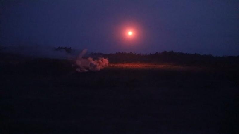 Ночные стрельбы десантников новороссийского горного соединения на полигоне Раевский