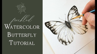 Freckled Watercolor Butterfly Tutorial